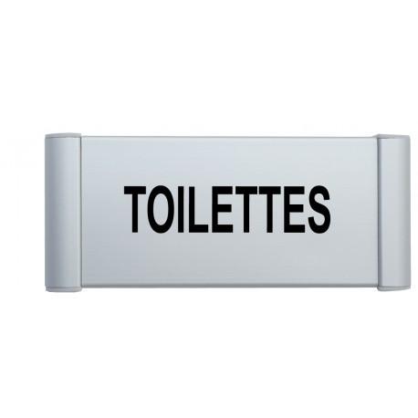 """Plaque de porte Alu """"TOILETTES"""""""