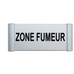 Plaque de porte aluminuim zone fumeur