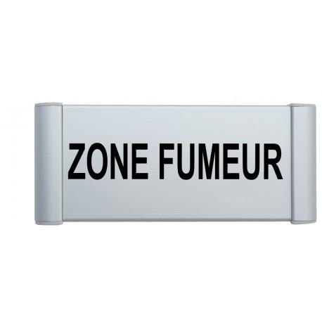 "Plaque de porte Alu ""ZONE FUMEUR"""