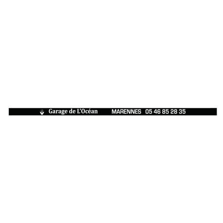 Signature de plaque minéralogique (lot de 100ex)