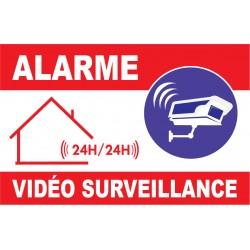 Panneau signalétique alarme vidéo surveillance