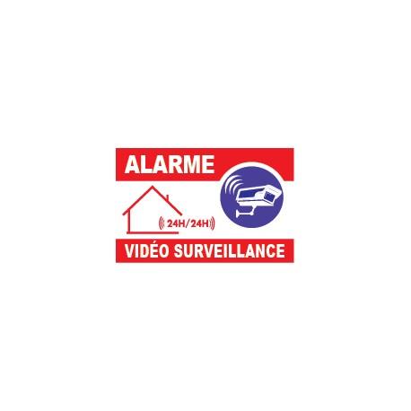 Alarme vidéo surveillance avec logo caméra
