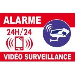 Alarme vidéo surveillance avec logo téléphone