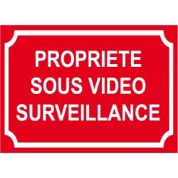 """Adhésif """"Propriété sous vidéo surveillance"""" 150x100mm"""