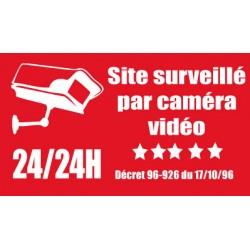 Adhésif  site surveillé par camera vidéo