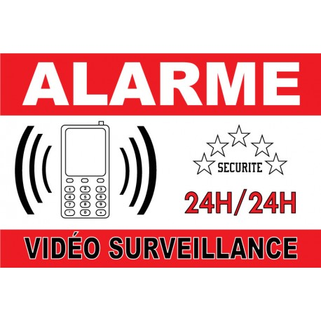 Adh sif alarme vid o surveillance 300x200mm for Alarme maison securitas