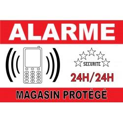 "Adhésif ""Alarme magasin protégé"" 300x200mm"