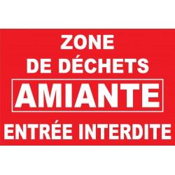 Zone de déchets amiante entrée interdite