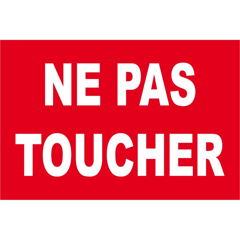 Panneau ne pas toucher - Merci de ne pas stationner devant le garage ...