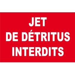 Jet de détritus interdits