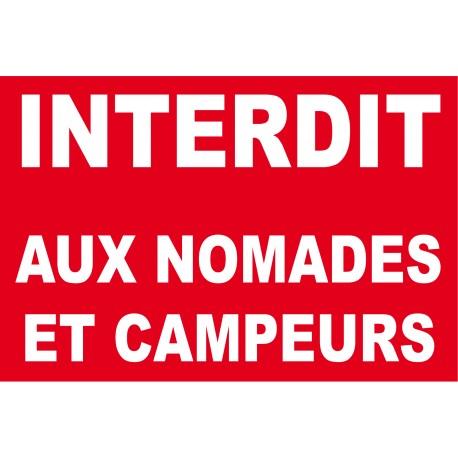 Interdit aux nomades et campeurs