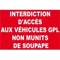 Interdiction d'accès aux véhicules gpl non munits de soupape
