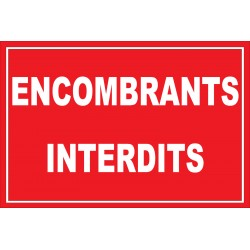 Encombrants interdit