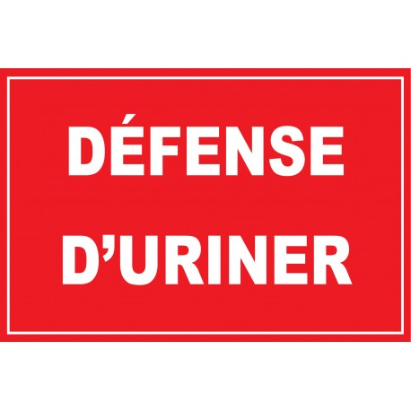 Défense d'uriner