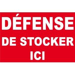 Défense de stocker ici