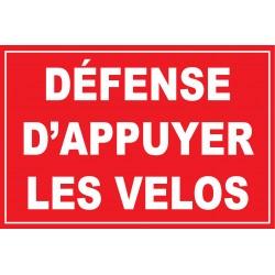 Défense d'appuyer les vélos