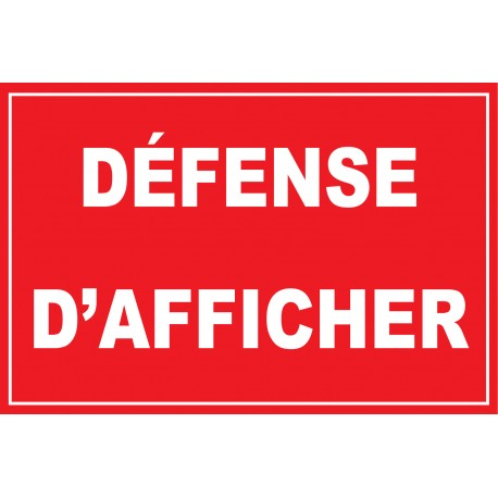 Défense dafficher