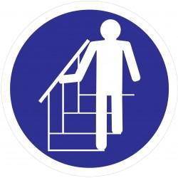 """Adhésif """"Obligation De Prendre L'escalier"""""""