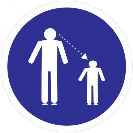 """Adhésif """"Obligation De Surveiller Vos Enfants"""""""