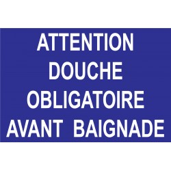 Attention douche obligatoire avant baignade