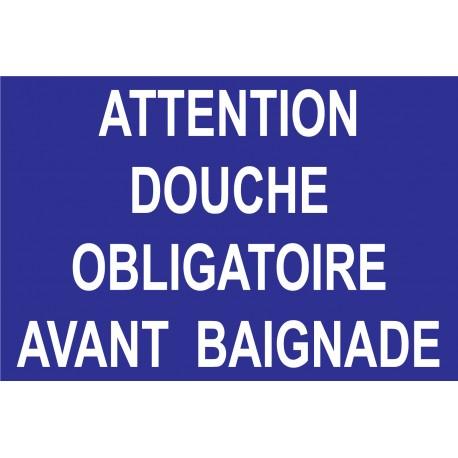 Attention douche obligatoire avant baignade