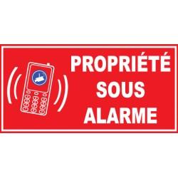 Panneau proprièté sous alarme vidéo surviellance smartphone