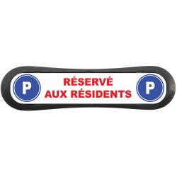 "Plaque d'identification de place de parking ""Parking Visiteur"""