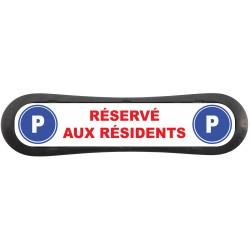 """Plaque d'identification de place de parking """"Parking Réservé aux Résidents"""""""