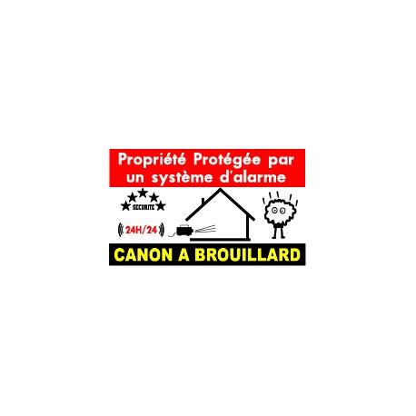 Propriété protégée  par un système d'alarme         (lot de 10p)