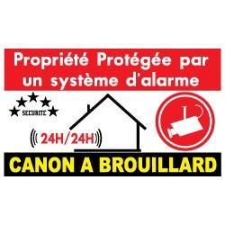Propriété protégée  par un système d'alarme et canon à brouillard (lot de 10p)