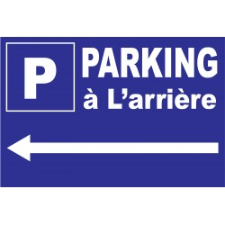 """Panneau """"Parking à l'arrière à gauche"""""""
