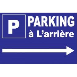 """Panneau """"Parking à l'arrière à droite"""