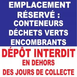 """Panneau """"Emplacement réservé"""""""