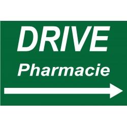 """Panneau """"Drive pharmacie à droite"""""""