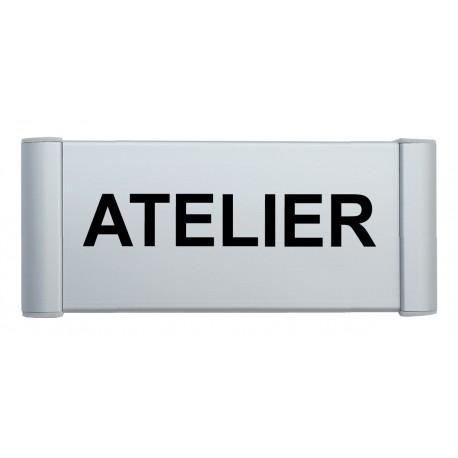 """Plaque de porte Alu """"ATELIER"""""""