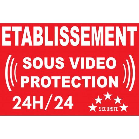 """panneau """"établissement sous vidéo protection"""""""
