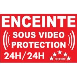 """Panneau """"Enceinte sous vidéo protection 24h/24"""""""