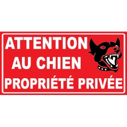 Panneau attention au chien