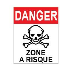 """Panneau """"Danger zone à risques"""""""