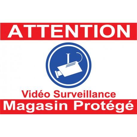 "Adhésif ""Attention propriété protégée"" 150x100mm"