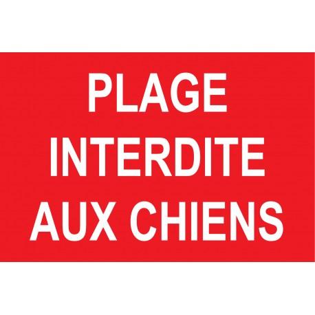 "Panneau ""Plage interdite aux chiens"""