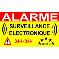 """***PROMO ***     Panneau de dissuasion """"Alarme surveillance électronique"""""""