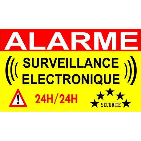 """Adhésif de dissuasion """"Alarme surveillance électronique"""""""