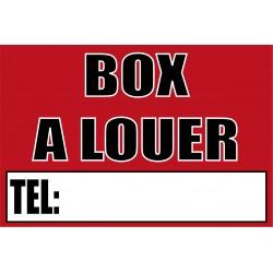 Pancarte Box à louer