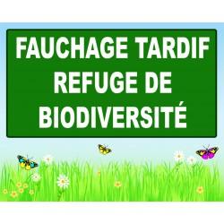 Panneau fauchage tardif refuge de biodiversité