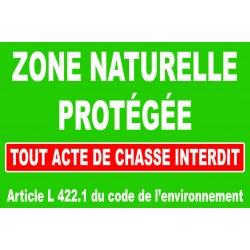 Panneau zone naturelle protégée