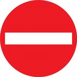 panneau signalétique sens interdit