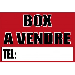 Pancarte Box à vendre