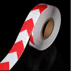 Bande réfléchissante de sécurité rouge et blanc