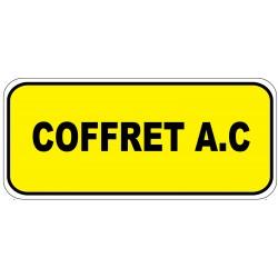 """Etiquette """"Coffret a.c"""". Lot de 20ex"""